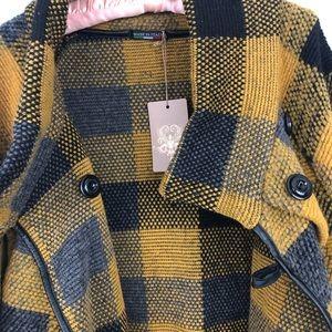 glossy Jackets & Coats - NWT Italian Wool Blend Coat